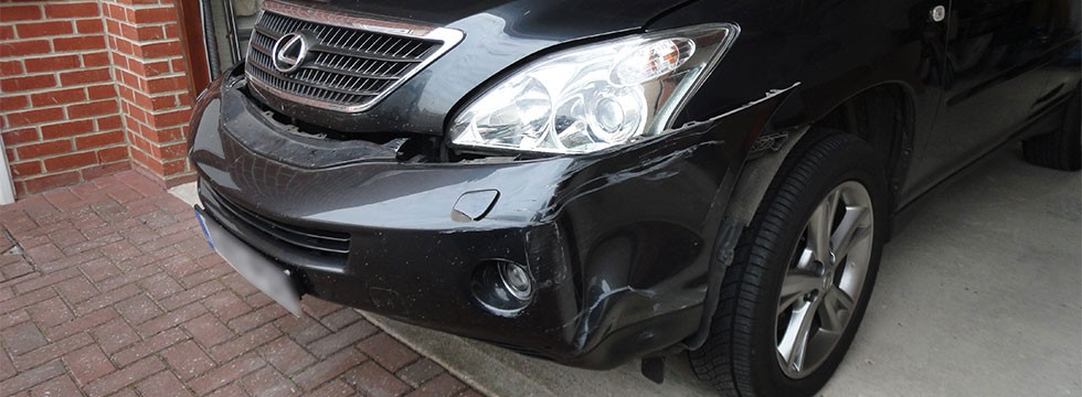 Lease Car Repairs - bumper damage